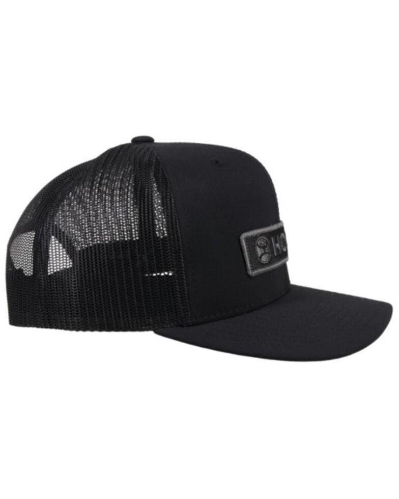 HOOey Men's Black Lock-Up Mesh Back Trucker Cap , Black, hi-res