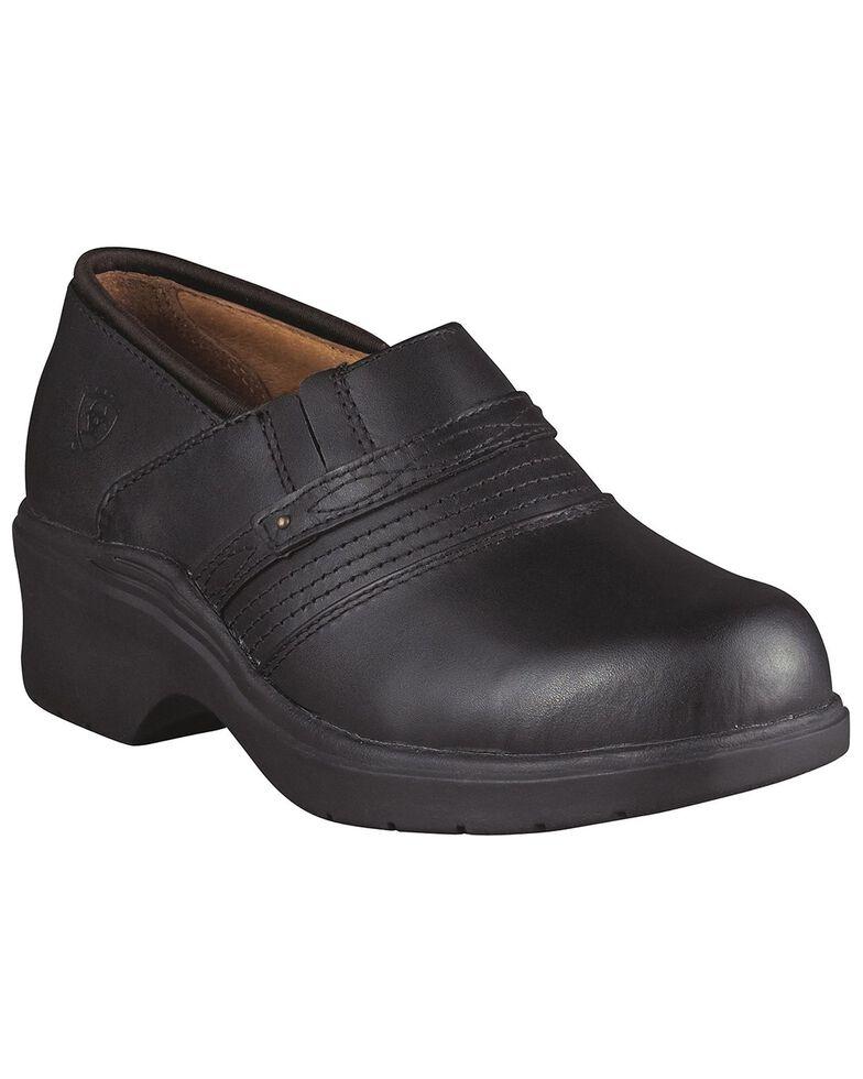 Ariat Black Clogs - Steel Toe, Black, hi-res