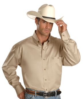 Wrangler George Strait Shirt, Tan, hi-res