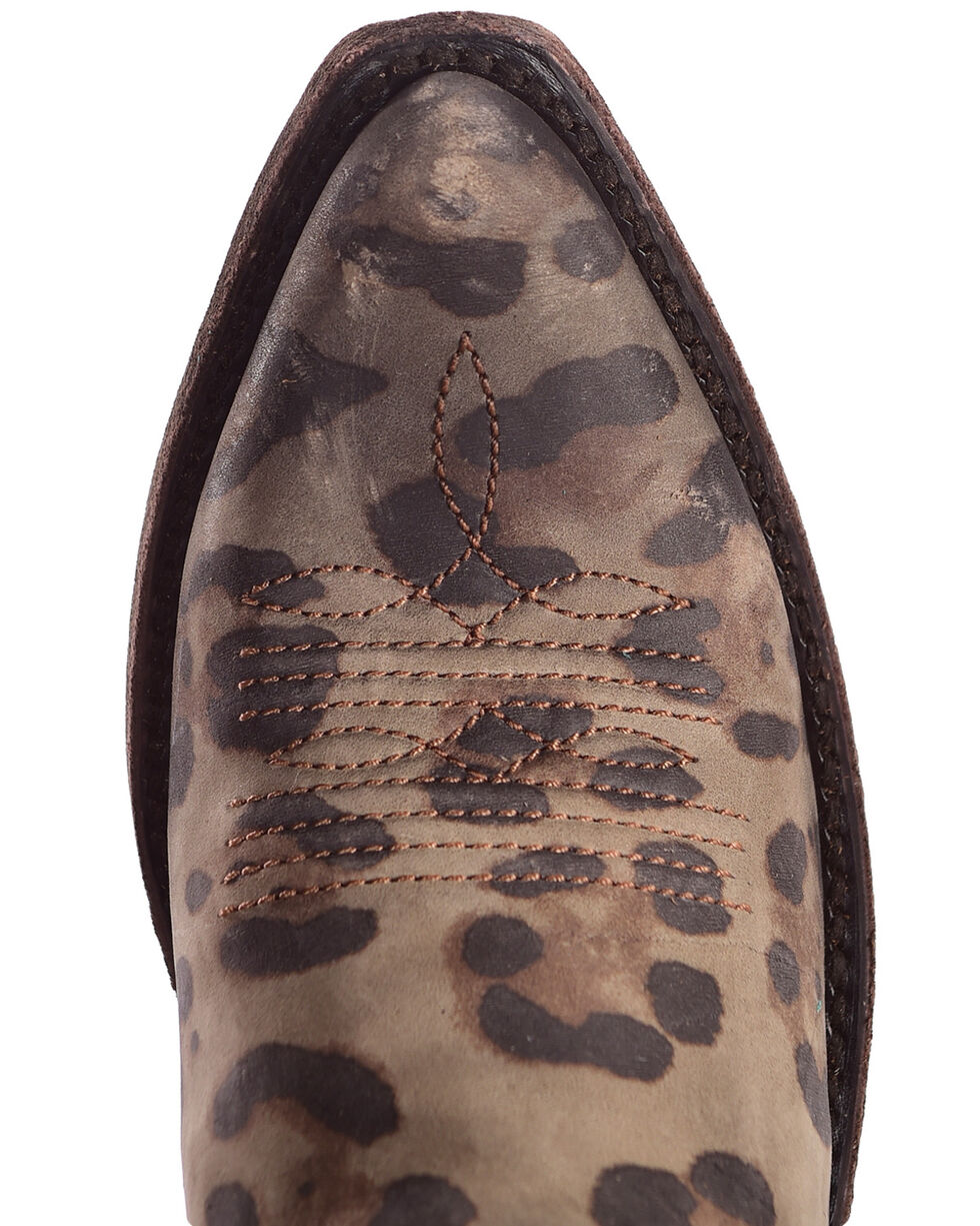 Liberty Black Women's Chita Miel Concho Fringe Boots, Leopard, hi-res