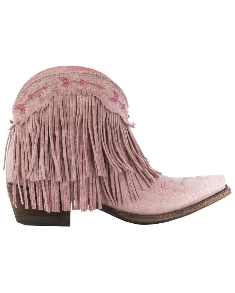 Junk Gypsy by Lane Women's Spitfire Mustard Fringe Booties - Snip Toe, Light Pink, hi-res