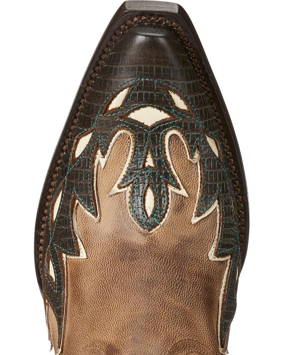 Ariat Women's Light Brown Juanita Western Boots - Snip Toe , Lt Brown, hi-res