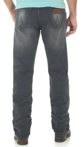 Wrangler Retro Men's Slim Fit Straight Leg Grey Denim Jeans, Indigo, hi-res