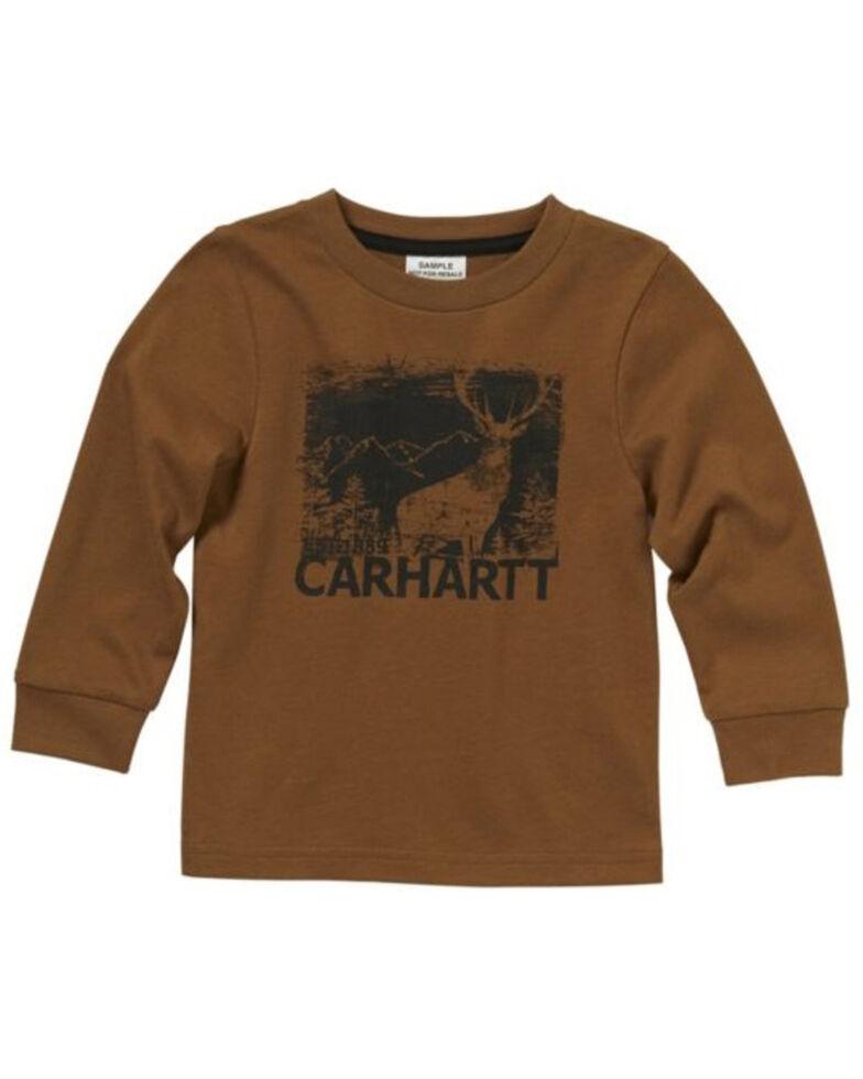 Carhartt Toddler Boys' Deer Silhouette Graphic Long Sleeve T-Shirt , Brown, hi-res