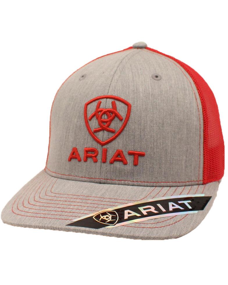 Ariat Men's Classic Logo Adjustable Cap , Grey, hi-res