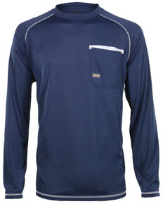 Ariat Men's Rebar Sun Stopper Long Sleeve Work Shirt , Navy, hi-res