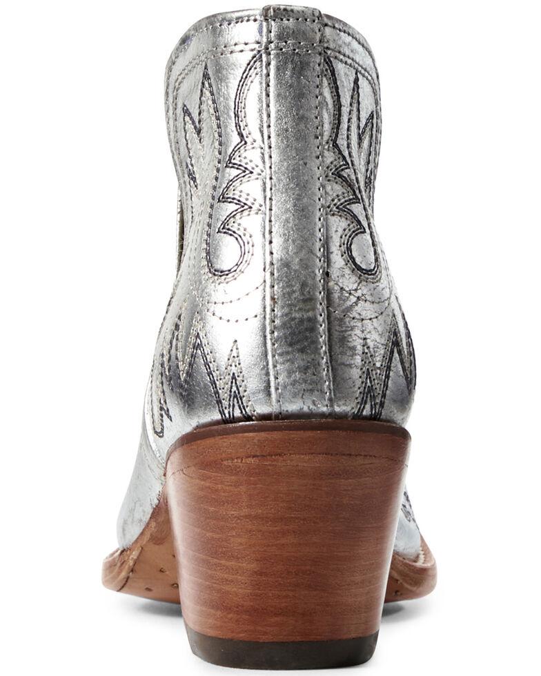 Ariat Women's Dixon Silver Metallic Fashion Booties - Snip Toe, Grey, hi-res
