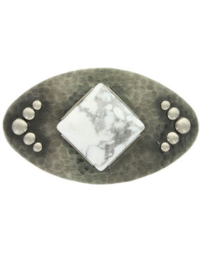 Montana Silversmiths Women's White Dune Oval Buckle, Silver, hi-res