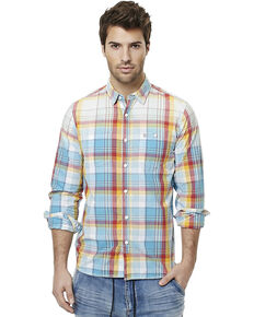 Buffalo Men's Sijax Plaid Long Sleeve Western Shirt , Plaid, hi-res