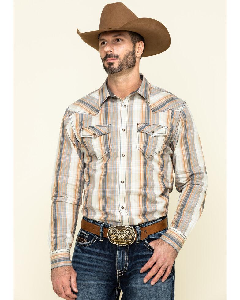 Cody James Men's Coal Miner Large Plaid Long Sleeve Western Shirt - Big , Beige/khaki, hi-res