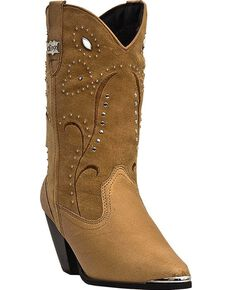 Dingo Women's Ava Leather Cowgirl Boots - Medium Toe, Chestnut, hi-res