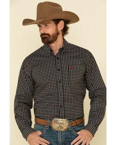 Cinch Men's Black Stretch Geo Print Long Sleeve Western Shirt , Black, hi-res