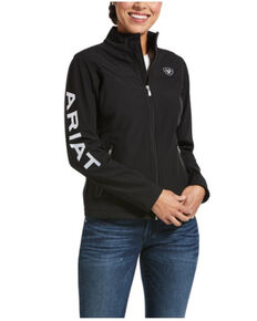 Ariat Women's Classic Team USA / Mexico Softshell Jacket , Black, hi-res