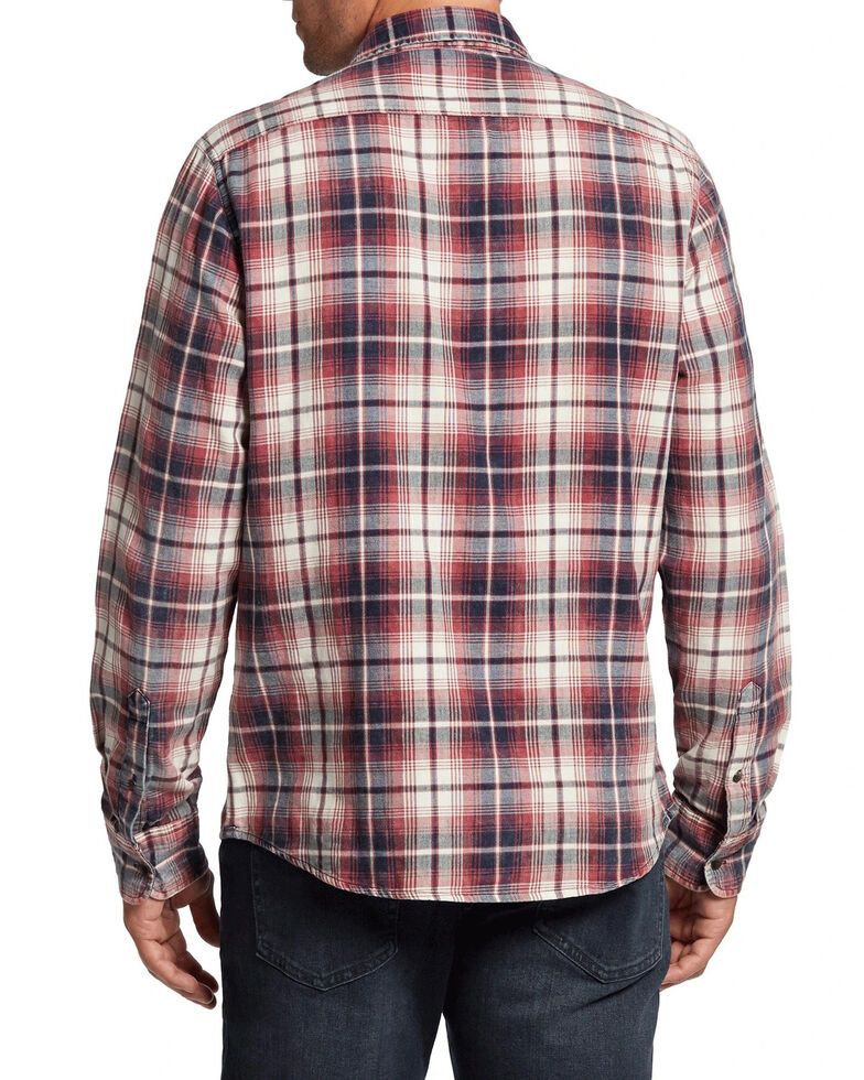Flag & Anthem Men's Red Houston Plaid Long Sleeve Western Shirt , Red, hi-res