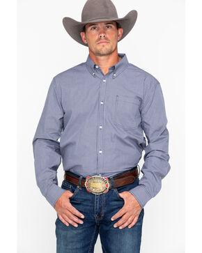 Cody James Men's Black Oil Slick Mini Check Long Sleeve Western Shirt, Black, hi-res