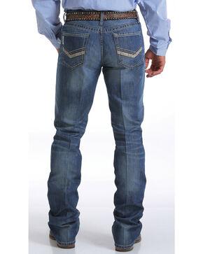Cinch Men's Ian Medium Stonewash Jeans - Boot Cut, Indigo, hi-res