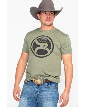 Hooey Men's Roughy 2.0 Crew Neck T-Shirt , Olive, hi-res