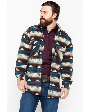 Outback Trading Men's Aztec Fleece Indy Big Shirt Jacket, Natural, hi-res