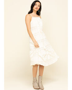 Coco + Jaimeson Women's Ivory Tie-Up Lace Dress , Ivory, hi-res