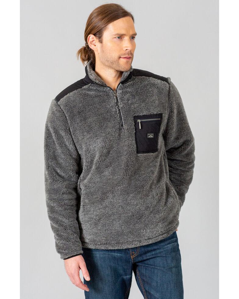 Kimes Ranch Men's Grey Whiskey Fleece 1/4 Zip Pullover , Grey, hi-res