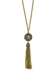 Howard's Women's Starburst Tassel & Crystals Necklace, Multi, hi-res