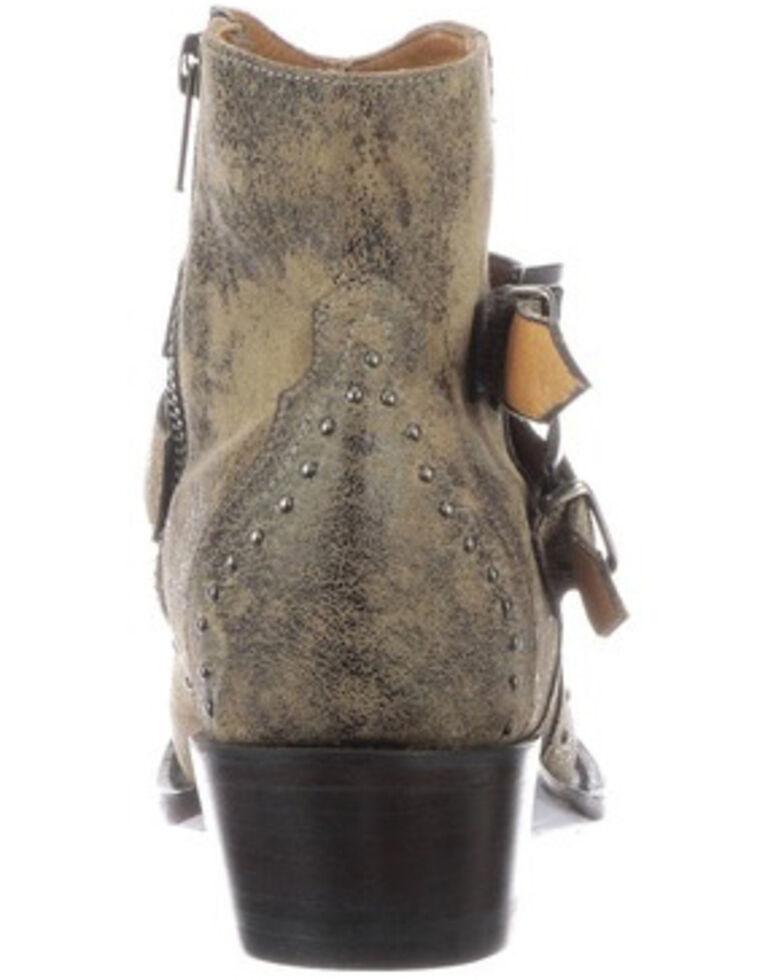 Lucchese Women's Rebel Buckle Moto Booties - Snip Toe, Tan, hi-res