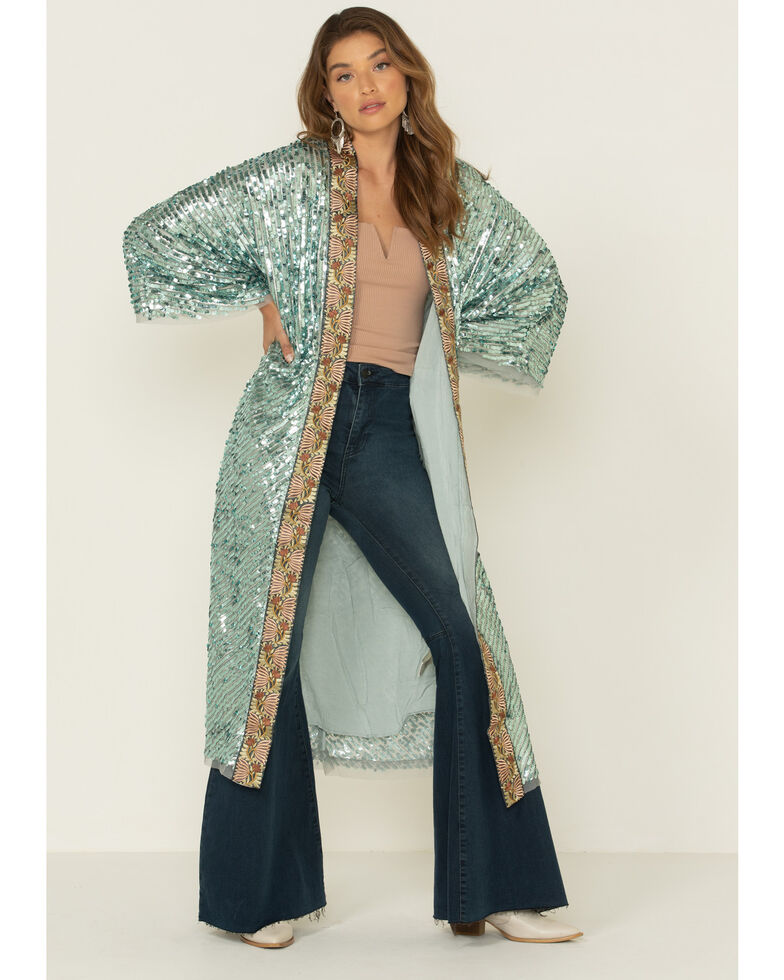 Free People Women's Light Is Coming Duster, Light Green, hi-res