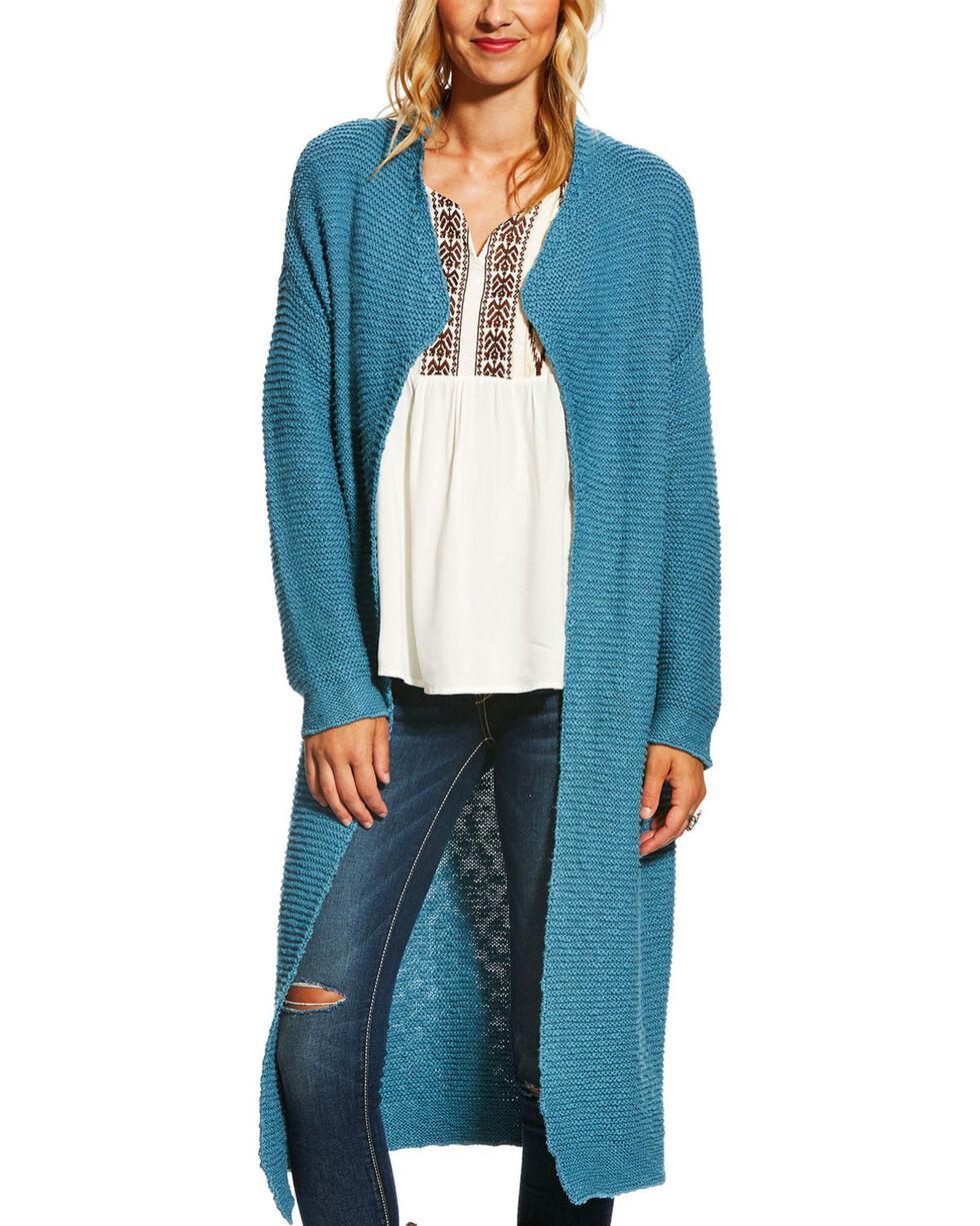 Ariat Women's Blue Cache Rain Water Cardigan , Blue, hi-res