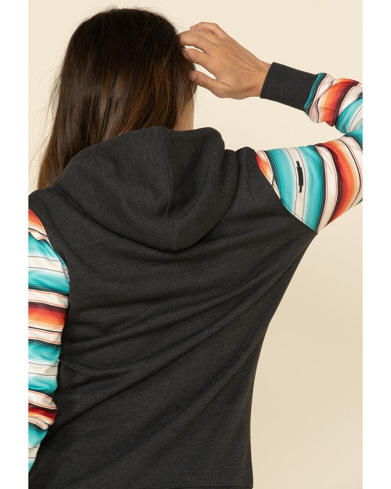 HOOey Women's Serape Black Cheyenne Hoodie Sweatshirt , Grey, hi-res