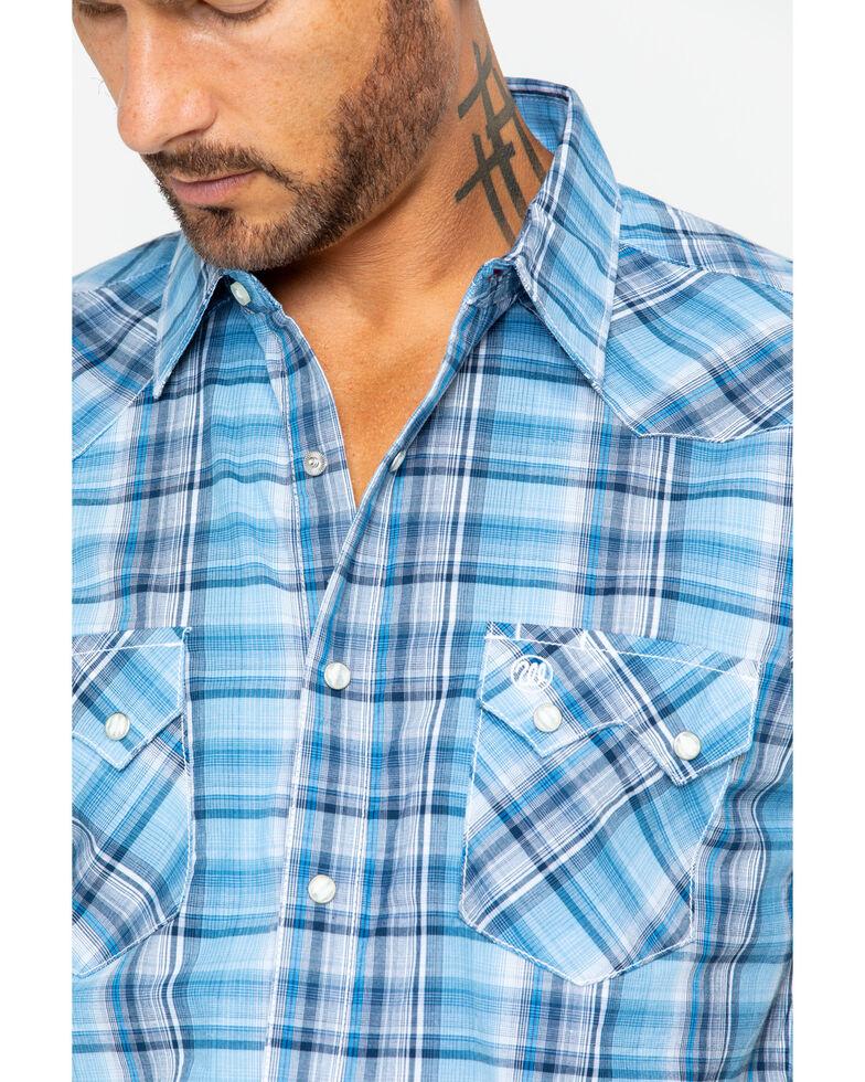 Wrangler Retro Men's Large Plaid Short Sleeve Western Shirt , Blue, hi-res