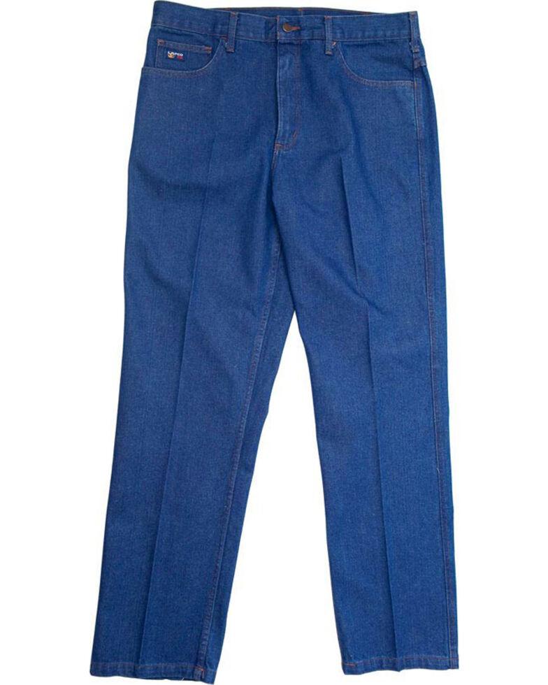 Lapco Men's Blue FR Relaxed Fit Bootcut Jeans, Blue, hi-res