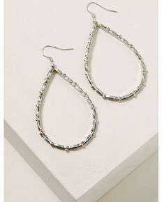 Idyllwind Women's Around We Go Turquoise Earrings, Silver, hi-res