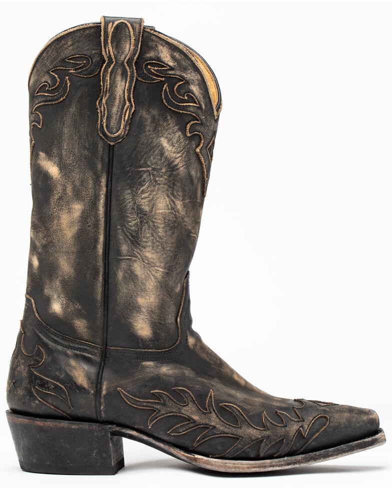 Moonshine Spirit Men's Rustik Black Western Boots - Snip Toe, Black, hi-res