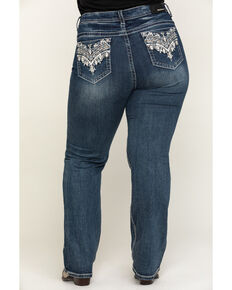 Grace in LA Women's Medium Novelty Straight Jeans - Plus , Blue, hi-res