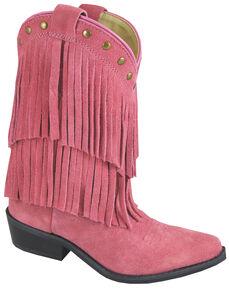 Smoky Mountain Girls' Wisteria Western Boots - Medium Toe, Pink, hi-res