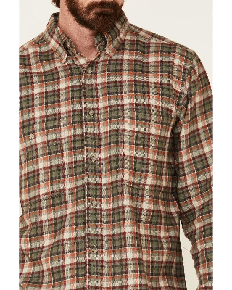 Wrangler Rugged Wear Men's Khaki Blue Ridge Long Sleeve Western Flannel Shirt , Beige/khaki, hi-res
