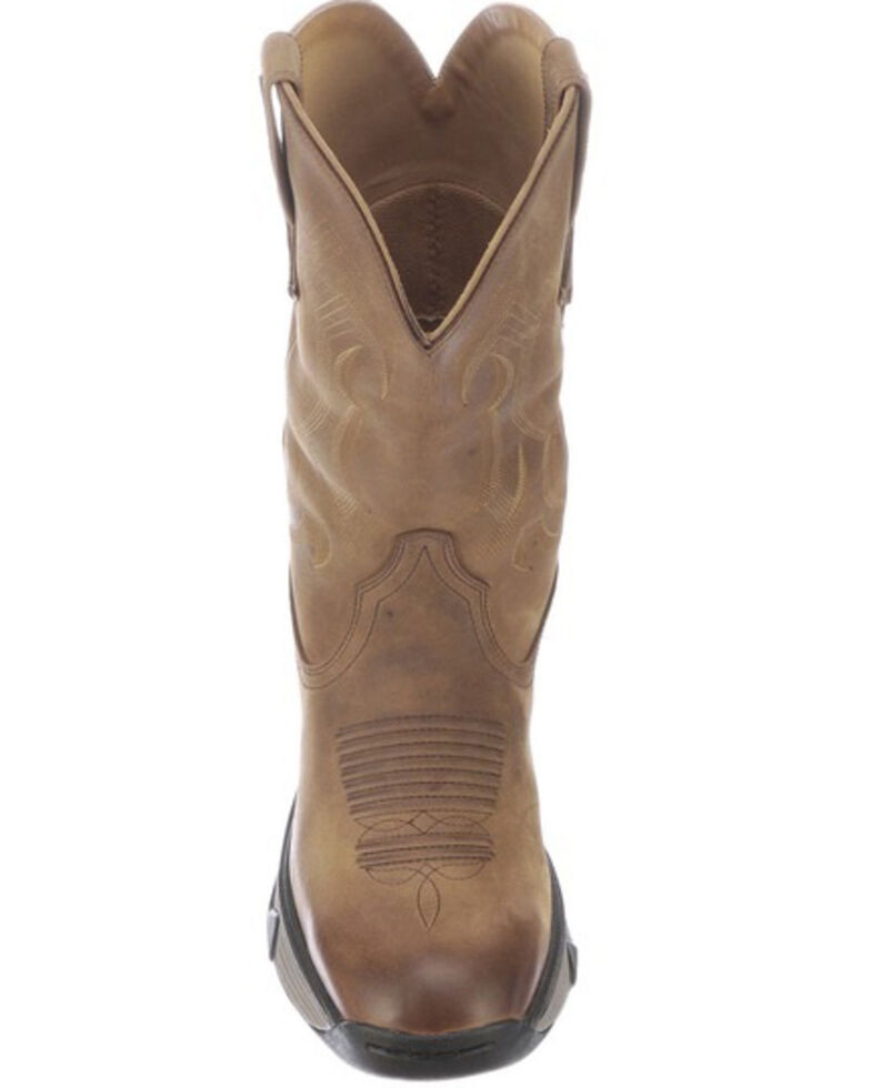 Lucchese Men's Performance Molded Western Work Boots - Soft Toe, Chestnut, hi-res