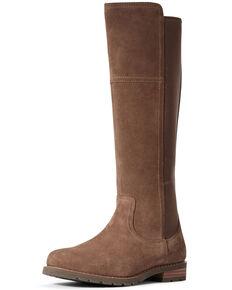 Ariat Women's Sutton Waterproof Western Boots - Round Toe, Brown, hi-res