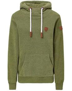 Wanakome Men's Solid Green Cascade Pullover Hooded Sweatshirt , Green, hi-res