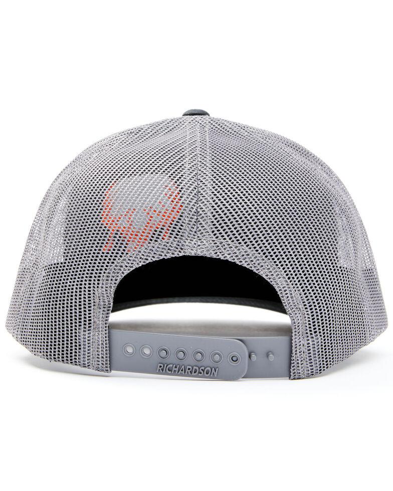 Oil Field Hats Men's Black & Orange Trophy Hunter Embroidered Mesh-Back Ball Cap, Black, hi-res