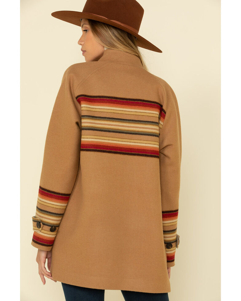 Pendleton Women's Tan Sunset Striped Coat, Tan, hi-res