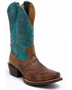 Cody James Men's Brown Western Boots - Square Toe, Brown, hi-res