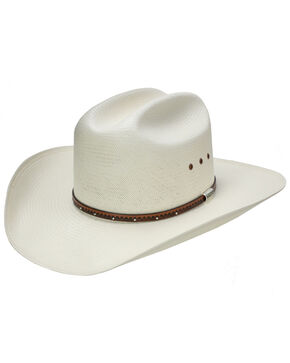 Stetson Men's Haywood Straw Cowboy Hat, Natural, hi-res