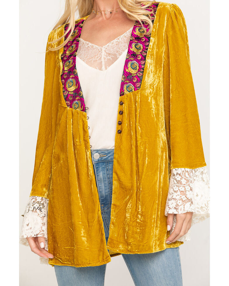 Free People Women's Wanderlust Jacket, Dark Yellow, hi-res