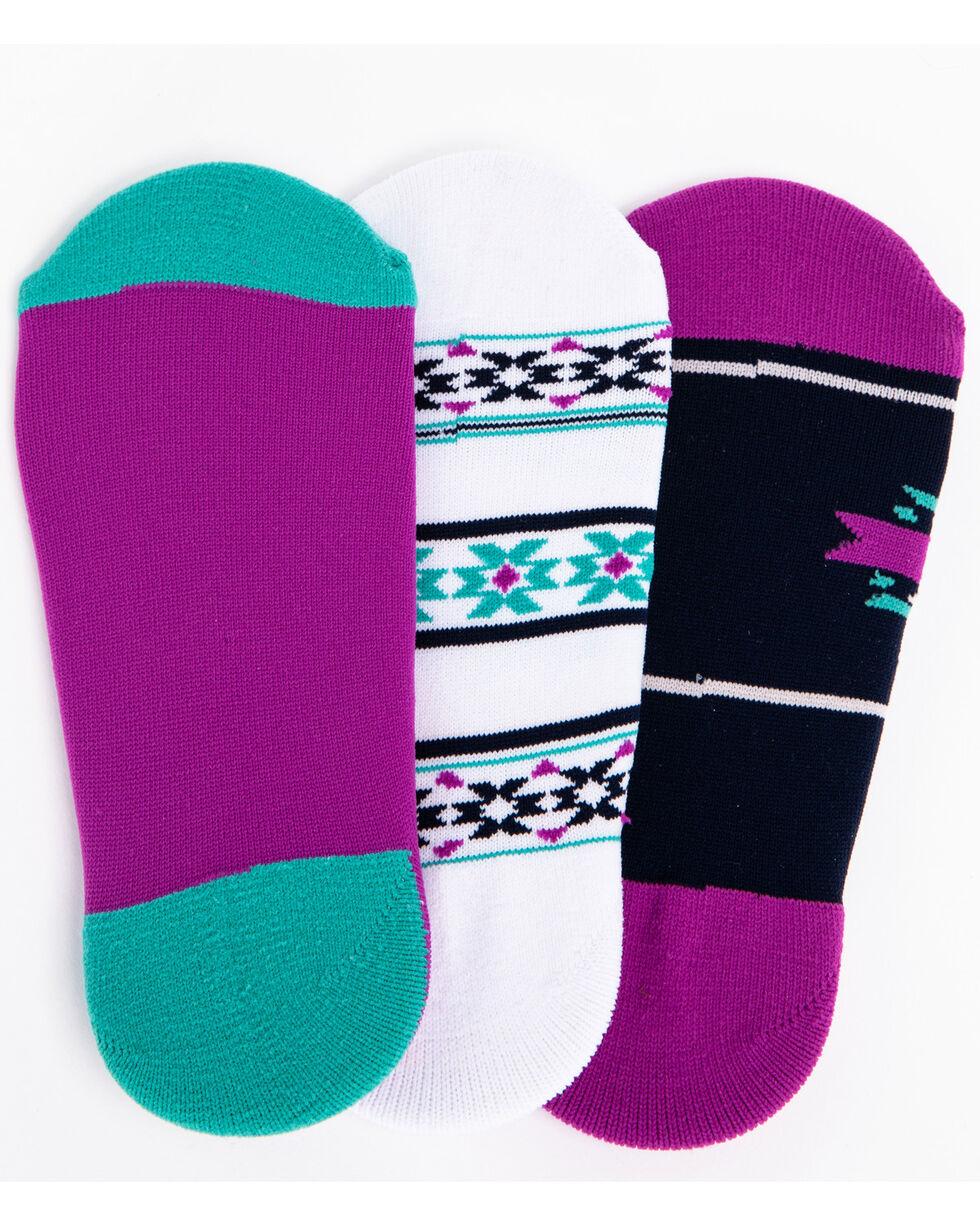 Shyanne Women's Aztec 3-Pack Liner Socks, Multi, hi-res