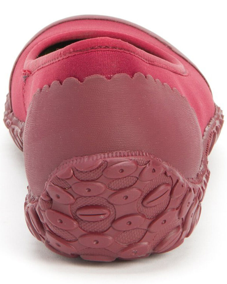 Muck Boots Women's Muckster II Flats - Round Toe, Red, hi-res