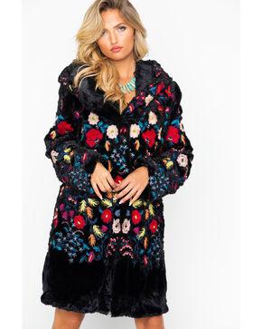 Johnny Was Women's Gena Faux Fur Coat, Black, hi-res