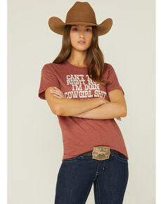 Ranch Dress'n Can't Talk Now Graphic Tee, Rust Copper, hi-res