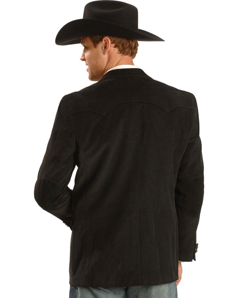Circle S Corduroy Sport Coat - Short, Reg, Tall, Black, hi-res