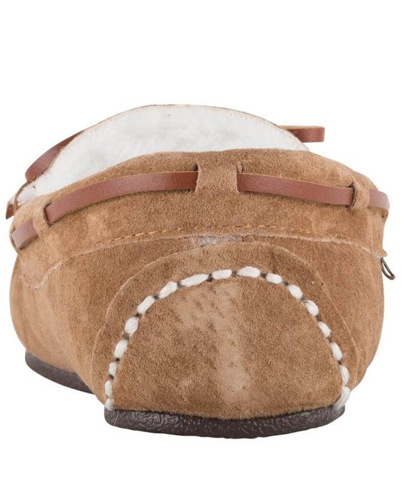 Lamo Footwear Women's Britain Moc II Wide Slippers - Moc Toe, Chestnut, hi-res